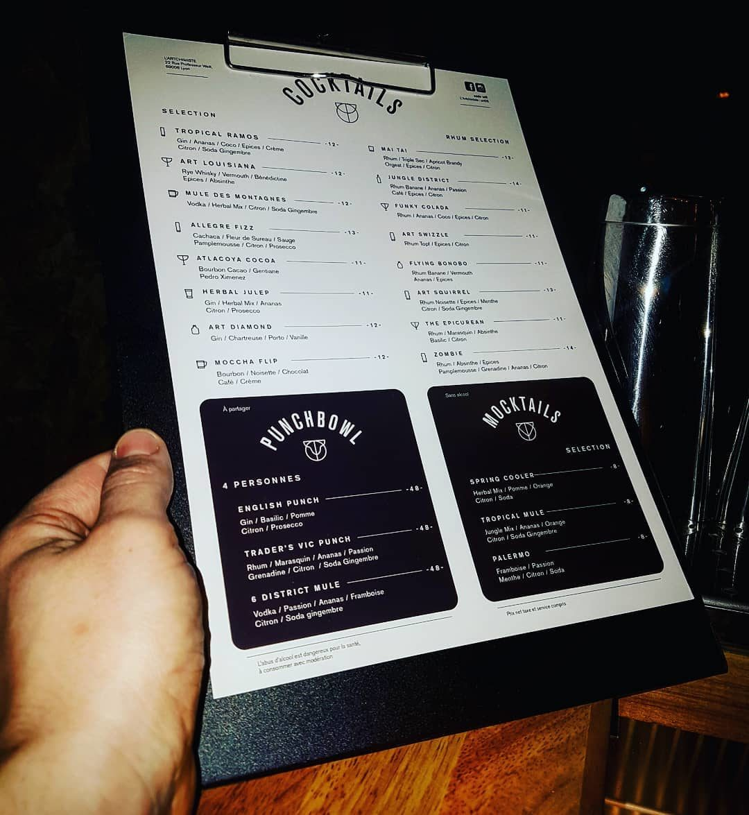 artchimiste bar cocktails lyon