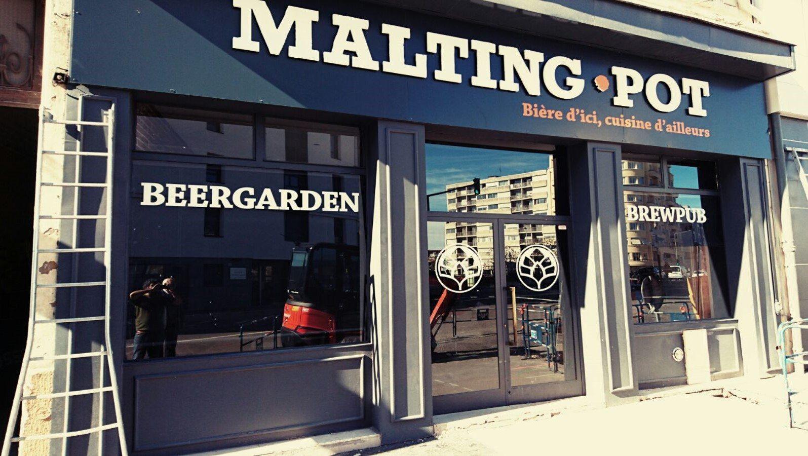 Malting Pot, bar, lyon, terrasse