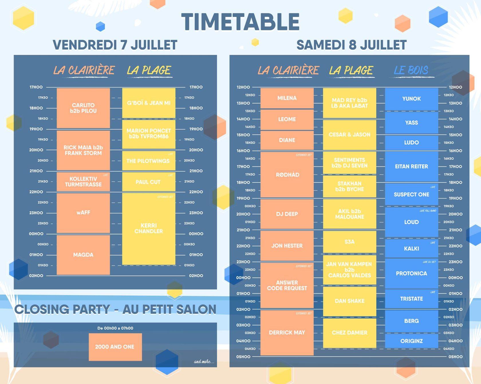 timetable festival evasion 2017