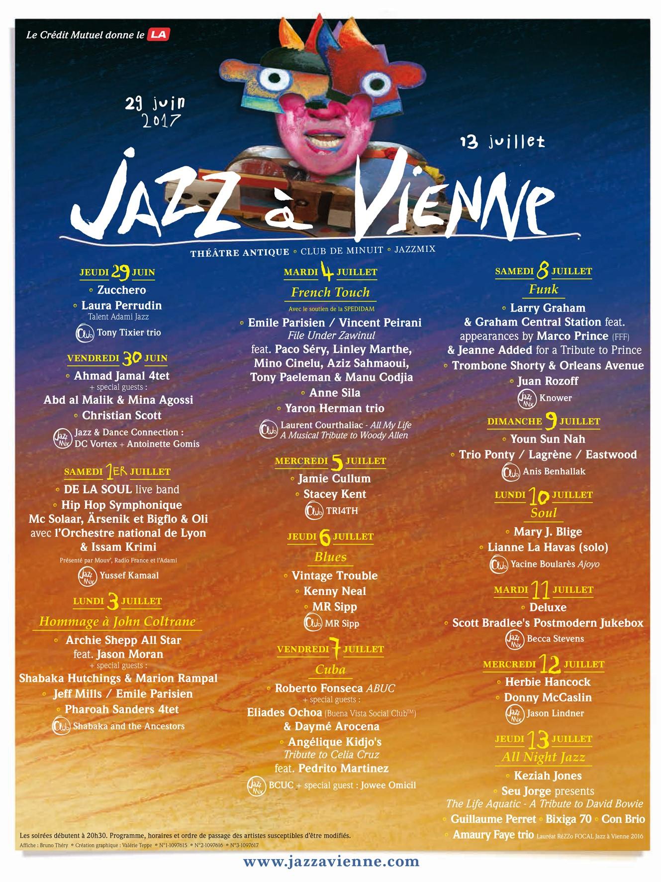 programmation jazz a vienne 2017