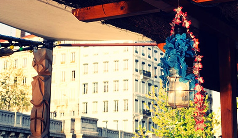 Le Tiki Bar, ambiance exotique en terrasse à Lyon